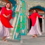 भारतमा मन्दिरमा यसरी युवती नाचेको भिडिओ सार्वजनिक भएपछि हंगामा