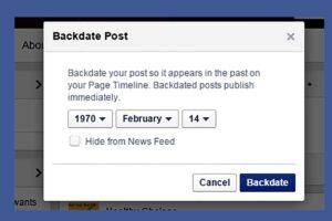 फेसबुकमा कसरी ब्याक डेटमा पोस्ट गर्ने, स्टाटसको मिति कसरी परिवर्तन गर्ने ?